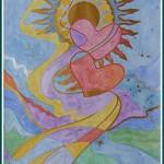 Akvarel + tøt akvarel 40x50cm