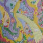 Akvarel + gouach - 50x40cm