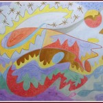 Akvarel + tøt akvarel 50x40cm